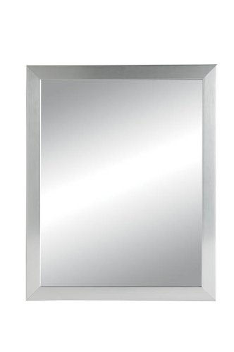 NuTone 781005 Hudson Framed Medicine Cabinet, Satin Chrome, Recessed Mount, 14-Inch By 18-Inch