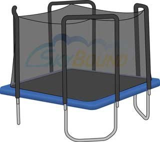 Trampoline Net for 13' x 13' Square Skywalker Trampoline Fits 4 Arches (Net O.