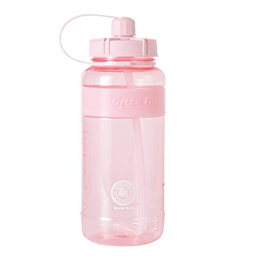 LHQ-HQ Botella de Agua para Deportes, Botella de Viaje, Botella de Agua Impermeable Grande, Botella de Agua Grande con Pajita y báscula, Adecuada para Deportes al Aire Libre/Fitness/Camping