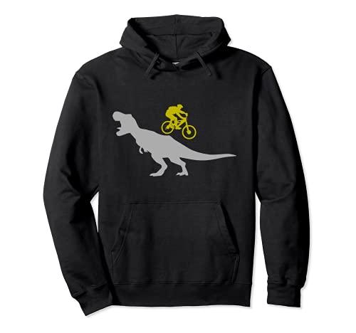 Mountainbike T-Rex Dinosaurier für Downhill Mountainbiker Pullover Hoodie