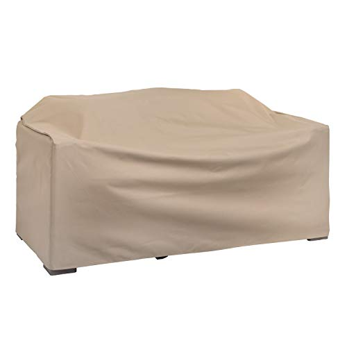 Modern Leisure Heavy Duty Patio Love Seat Cover designed to fit patio love seats up to 55-inches Long x 33-inches Width x 38-inches Height