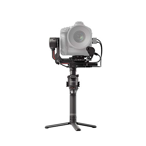 """DJI RS 2 Combo - 3-Axis Gimbal Stabilizer for DSLR and Mirrorless Cameras, Nikon, Sony, Panasonic, Canon, Fuji, 10lbs Tested Payload, 1.4"""" Full-Color Touchscreen, Carbon Fiber Construction, Black"""