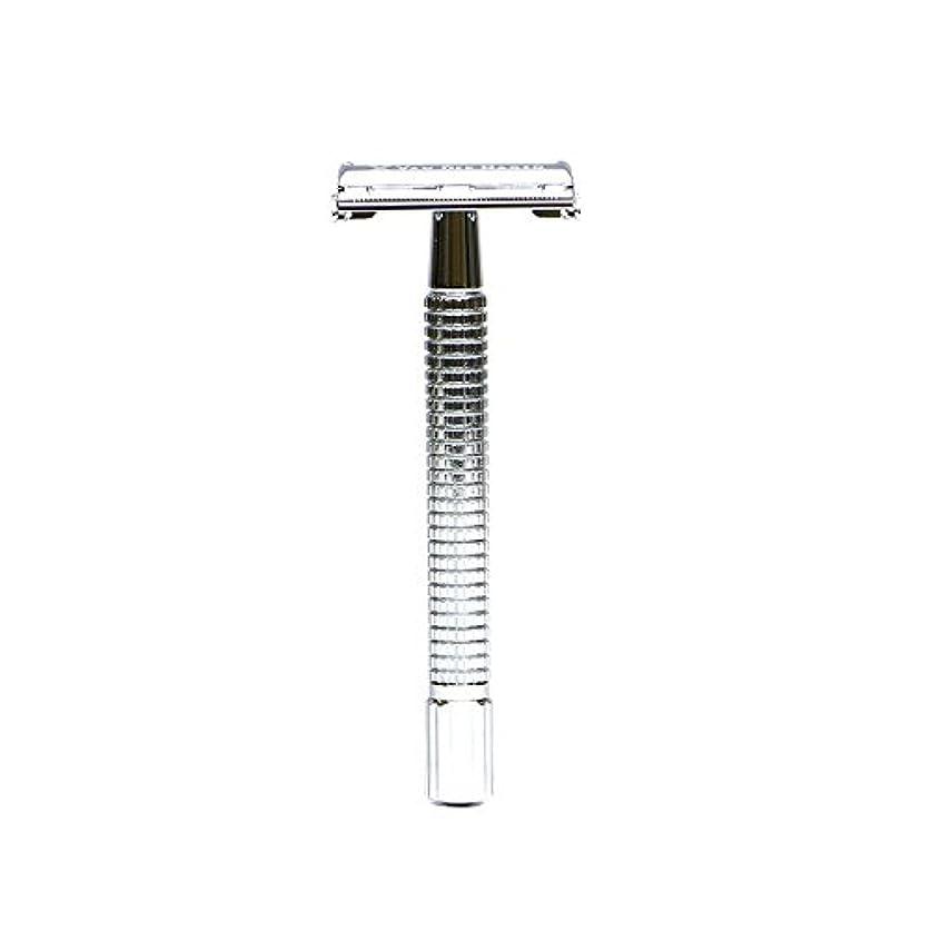 特異な寝室馬力VANDERHAGEN(米) トラディショナル 安全両刃カミソリ ロングタイプ バタフライタイプ 替刃5枚付