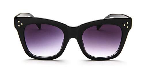 TYJYY Occhiali da Sole Rivet Cat Eye Occhiali da Sole Donna Luxury Occhiali da Sole per Donna Oversize Eyewear Celebrity Kim Kardashian UV
