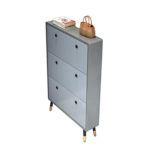 Gabinete De Zapatos con Cubo Basculante Ultrafino, Gabinete De Almacenamiento De Lujo para Gabinete De Zapatos De Puerta De Casa, Gabinete De Almacenamiento De Hogar para Zapatero