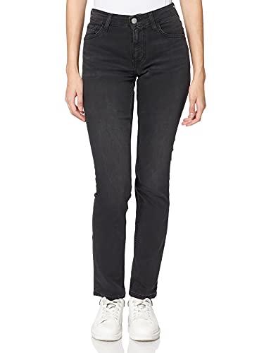 MUSTANG Damen Rebecca comfort high slim Jeans, schwarz, 32W / 36L