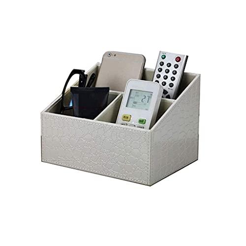 Caja de almacenamiento de escritorio para sala de estar, mesa de café multifuncional, caja de almacenamiento de madera de bambú, control remoto (color : A) (color: B)
