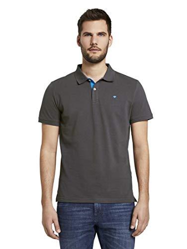 TOM TAILOR Herren Poloshirts Basic Poloshirt Tarmac Grey,S