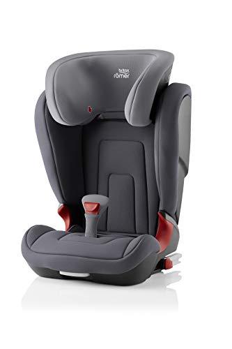 BRITAX RÖMER Siège Auto KIDFIX 2 R, Confortable avec Protections Latérales, enfant de 15 à 36 kg (Groupe 2/3) de 3.5 ans à 12 ans, Storm Grey
