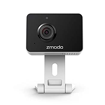 Zmodo Mini Pro -WiFi Indoor Camera for Home Security 1080p HD Smart IP Cam with Night Vision 2-Way Audio AI-powered Motion Detection Phone App Pet Camera- Works with Alexa and Google
