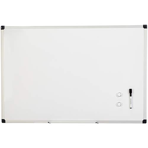 Amazon Basics Magnetic Framed Dry Erase White Board, 24 x 36 Inch