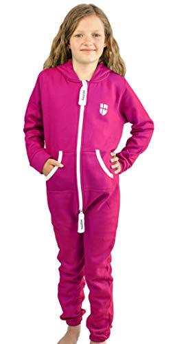 Gennadi Hoppe Kinder Jumpsuit Overall Jogger Trainingsanzug Mädchen Anzug Jungen Onesie,pink,11-12 Jahre
