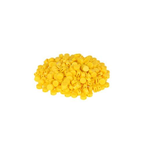 250 St. Kunststoffplomben gelb 8mm - Plomben