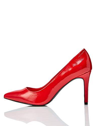 find. Point Court Shoe Scarpe col Tacco Punta Chiusa, (Rosso Red), 36 EU
