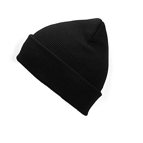 Zando Beanie for Men Women Cuffed Cap Soft Slouchy Beanie Winter Knit Hats Fisherman Beanie Skull Cap Unisex Daliy Beanie Cancer Headwear Black One Size