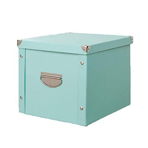 Price comparison product image IPurpleBTS Storage Box Storage Holder Paper Storage Box Foldable Book Box Home Storage and Organization (Color : Beige-8,  Size : 343129cm)