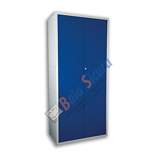 Baia Sicura Armadio Ufficio Archivio 200 x 100 x 40 Multiuso Porta Blu