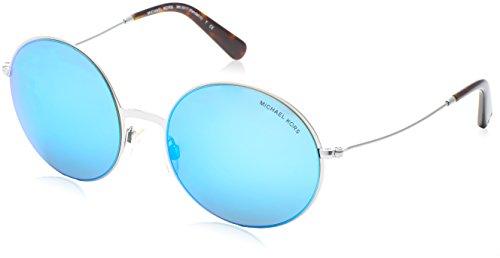 MICHAEL KORS 100125, Gafas de Sol Unisex Adulto, Azul (Silver 100125), 55