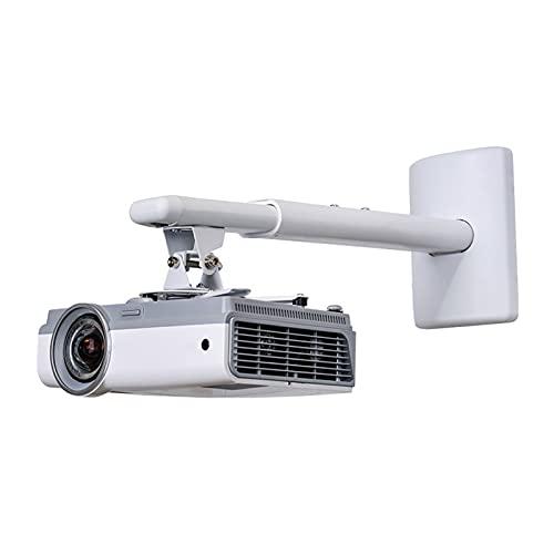Soporte de Proyector PROYECTOR MOUNT EXTENDIBLE TELESCÓPICO Soporte de soporte Fijación para la pared 33lbs Longitud de la capacidad 15.7 a 23.6in/40 a 60 cm Blanco Soporte de Pared para proyector