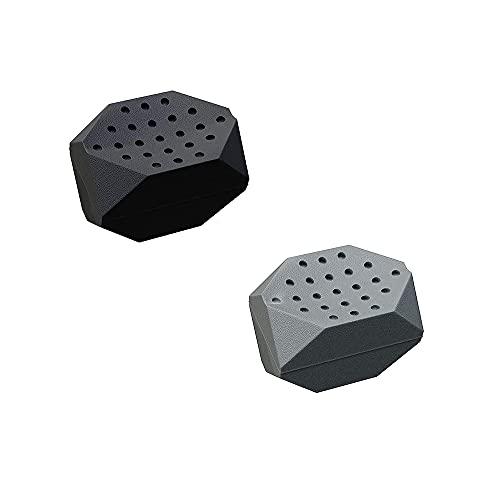 Kaimeilai Jaw Trainer - Dispositivo de tonificación facial (2 unidades, silicona, para tonificar la zona del cuello de la mandíbula, color negro)
