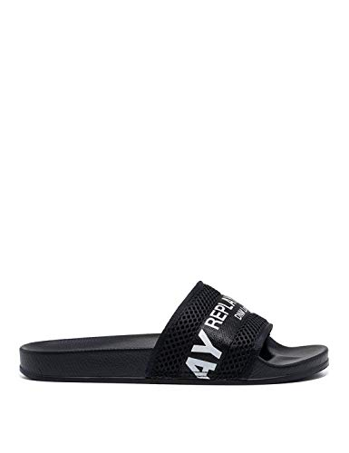 Replay Men's Alloway Slides Black in Size 46