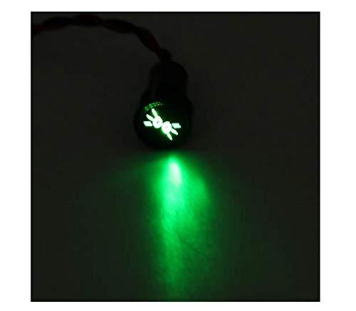 EsportsMJJ 12 8 mm LED dashboard lamp indicator licht met lijn en symbool voor autoboot, 3, 1