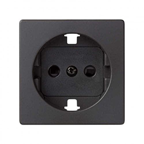 Simon Tapa serie 82 enchufe Schuko cargador Concept, 1 x 4 x 4 centímetros, color negro mate (referencia: 8200041-098), Estándar