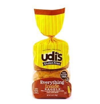 Udi's Gluten Free Everything Inside Bagel 14oz (Pack of 4)