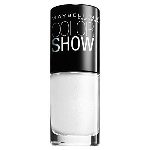 Maybelline ColorShow nagellak, nr. 130 Winter Baby, brengt de looptrends uit New York op de nagels, in stralend wit, 7 ml