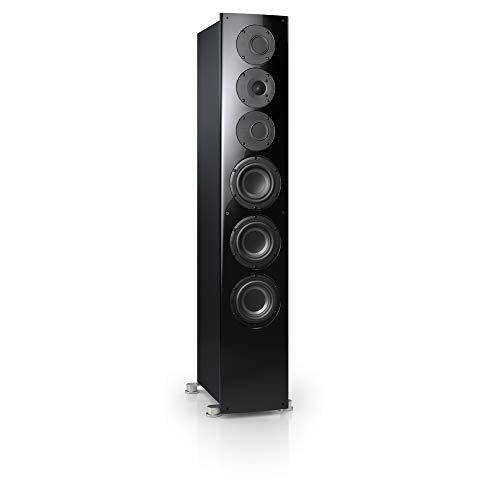 Nubert nuVero 110 Standlautsprecher   Lautsprecher für Stereo   HiFi Qualität auf höchstem Niveau   Passive Standbox mit 3 Wege Technik Made in Germany   High End Standlautsprecher Schwarz   1 Stück
