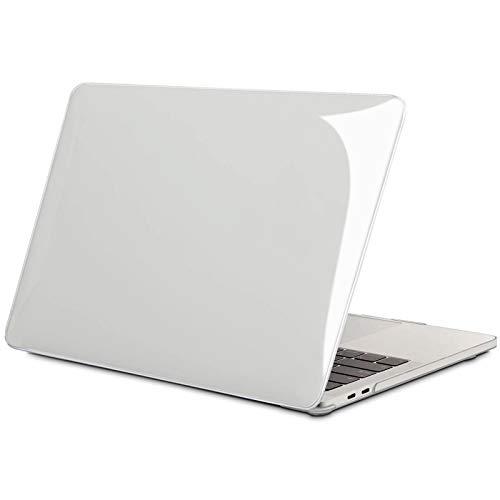 TECOOL Funda para MacBook Pro 13 2016-2020 (Modelo: A2338 M1/ A2289/ A2251/ A2159/ A1706/ A1708/ A1989), Delgado Cubierta de Plástico Dura Case Carcasa para MacBook Pro 13 Touch Bar - Transparente