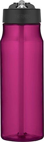 THERMOS 4011.244.053Botella Tritan Straw, 0,53l, plástico, plástico, Magenta, 7 x 7 x 24,5 cm
