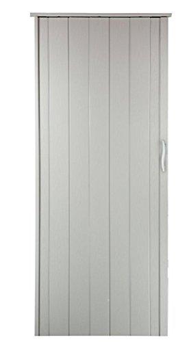 Falttür Schiebetür Tür weiss gewischt farben mit Schloß/Verriegelung Höhe 202 cm Einbaubreite bis 85 cm Doppelwandprofil Neu