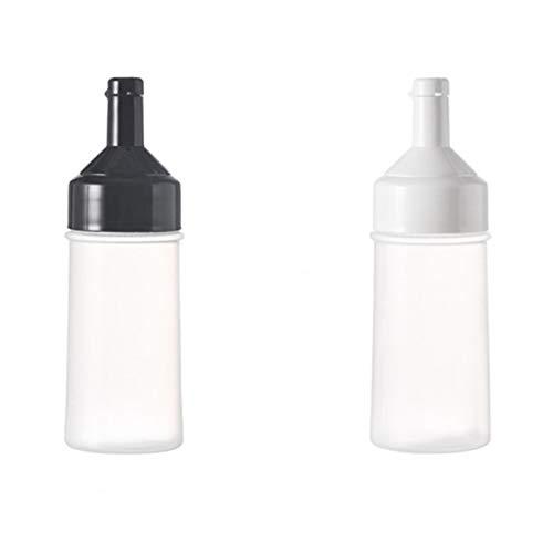 Camisin 2 Uds, Botella Exprimible, Accesorios de Cocina, Dispensador de Condimentos de PláStico, Salsa de Aceite, Vinagre, Ketchup, Botella de Condimento