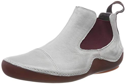 Think! Damen KAPSL_484069 Slip On Sneaker, Grau (Stahl/Kombi 19), 39 EU