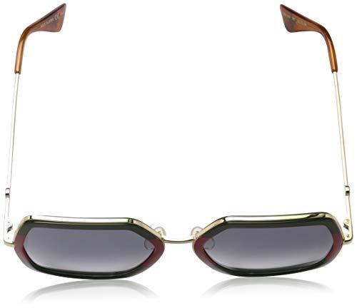 Fashion Shopping Gucci GG0106S Sunglasses 007 Green/Gold / Grey Gradient Lens