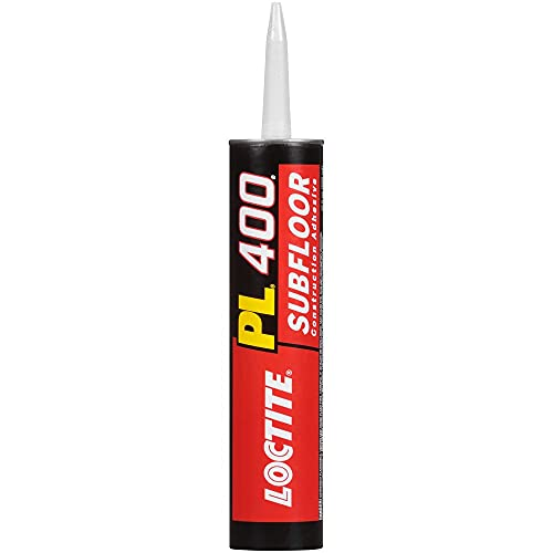 Loctite PL 400 Subfloor and Deck Construction Adhesive, 10 Ounce Cartridge, White (1652275)