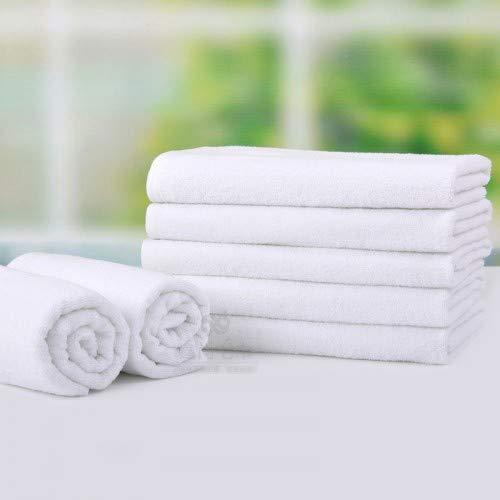 OGDREAMS Juego de 10 toallas de baño, 100 x 150 cm, 100 % algodón, color blanco
