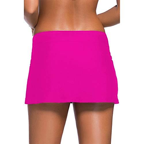Ropa de entrenamiento para mujer para buceo, natación, playa, tomar el sol, surf, correr, falda de bikini con falda, pantalones cortos de natación para mujer, poliéster, negro, Small