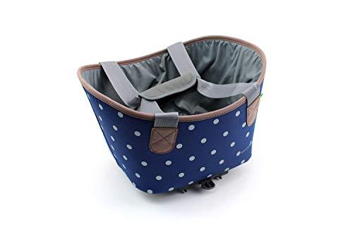 Racktime Unisex– Erwachsene Agnetha Gepäckträgertasche, blau, Einheitsgröße