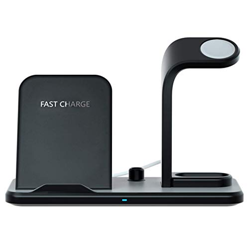 The New Detachable Three-in-One Fast Wireless Charger Is Suitable For Mobile Phone Apple Headset Watch Holder