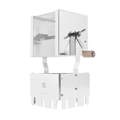 LiChenY 250 g Ferninfrarot-Netzwerkkaffee-Röster, Holz, handgebackene Bohnen, 304 Edelstahl, gleichmäßige Körperwärme
