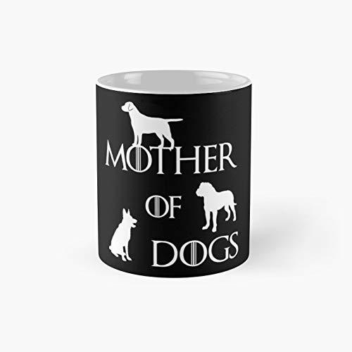 Taza clásica de madre de perros, el mejor regalo, tazas de café divertidas, 11 onzas