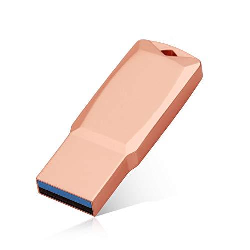 USB Flash Drive 1TB External Storage Thumb Drive Portable USB Stick Pen Drive Keychain Memory Stick for Daily Storage (Rose gold1) (1-2)
