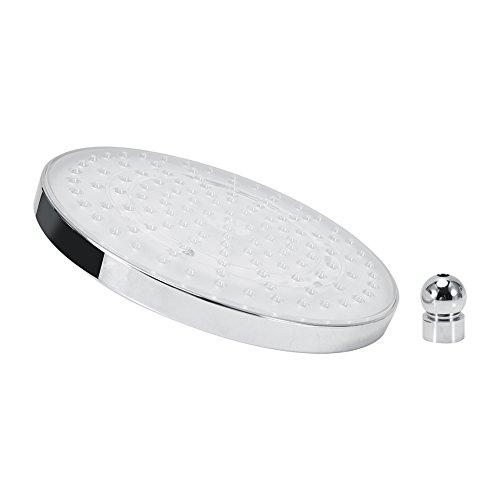 8 inch ronde roestvrij stalen badkamer RGB LED-lamp douchekop temperatuursensor regendouchekop met kleurverandering waterval regendouche top spray