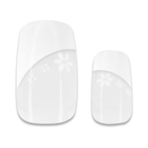 24 French White Airbrush Tips (10117) ohne Anklebefläche in verschiedenen Größen
