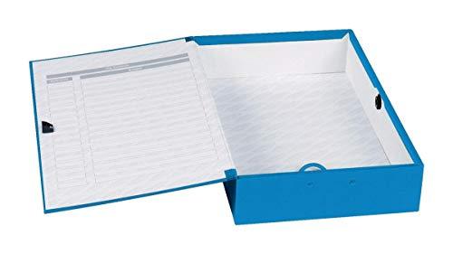 Concord Classic Box Bestand Papierslot Vinger-pull en Catch 75mm Spine Foolscap Blauw Ref C1278 [Pack van 5]