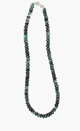 LOVEKUSH LKBEADS elegant grön smaragd fasetterade pärlor sällsynt halsband 7 mm till 8 mm fasetterade smaragd pärlor halsband – redo att bära halsband 45 cm lång/maj månadssten kod-HIGH-25423