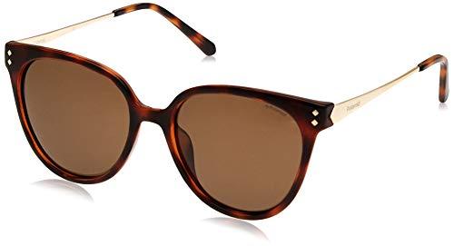 Polaroid PLD 4047/S Ig gafas de sol, Dorado (Havana Gold/Brown Pz), 54 para Mujer