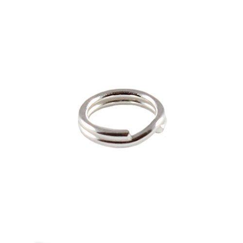 Charm School UK Confezione da 10 (10) Argento Sterling 6mm Split Rings - Perfetto per Ciondoli E Riparazioni